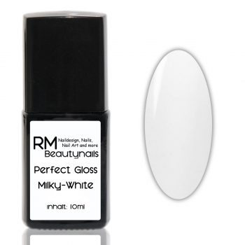 RM Perfect Gloss Glanz Gel non Sticky Milky White 10ml