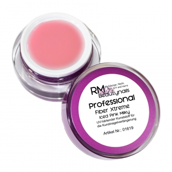 RM Professional Fiber Xtreme UV Gel ICED Pink Milky 15ml