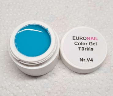 EuroNail Farbgel / ColourGel 5ml Türkis V4