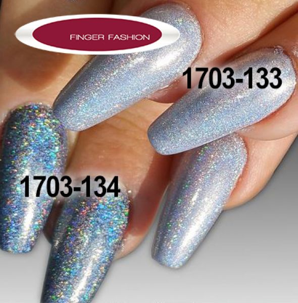 Finger Fashion Puder Holo Pigment silber hell 2gr.