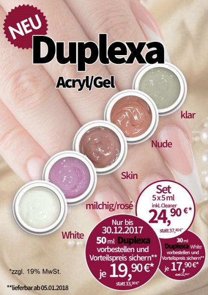 Finger Fashion DUPLEXA Acryl/Gel 5x5ml plus Cleaner